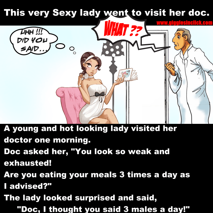 hot lady, giggles, gigglesinclick, jokes, doctor, thinking, males, eat