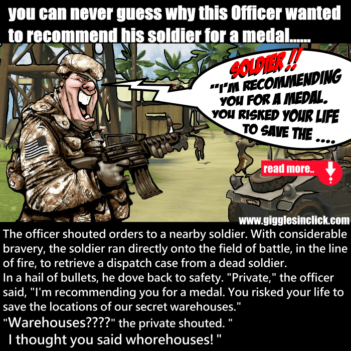 soldier, war, battlefield, save, giggles, creative, jokes, lol, gigglesinclick, officer