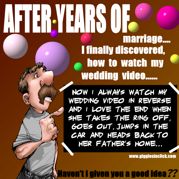 years of marriage, husband, wife, marriage video, reverse, lol, relationship, jokes, giggles, gigglesinclick.com
