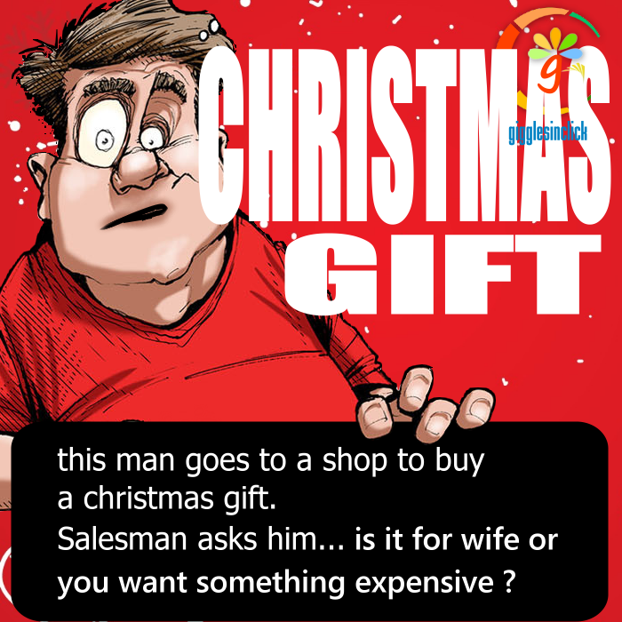 christmas gift, giggles, gigglesinclick.com, lol, jokes, salesman, amazed, surprised