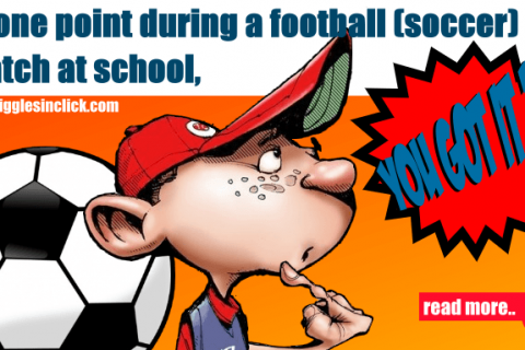 football, school, soccer, kid, half time, jokes, lol, giggles, gigglesinclick.com, funny images