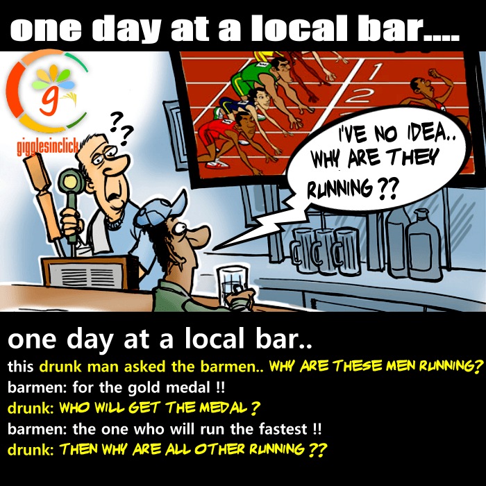 local bar, two drunks, barmen, jokes, watching, tv, surprised, lol, giggles, gigglesinclick.com