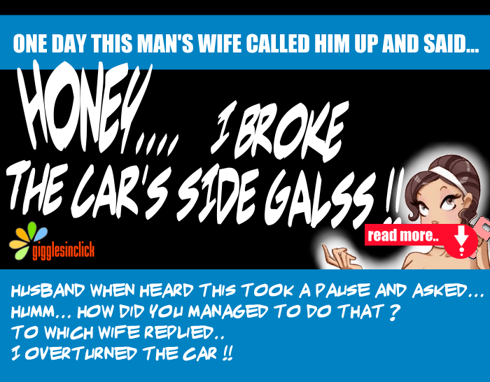 sideglass, accident, wife, husband, joke, hilarious, giggles, gigglesinclick, lol