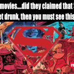 Superman, funny, giggle, bar, drunk, fly, joke, gigglesinclick, funny image