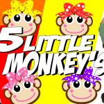 five little monkeys jumping on the bed, five little monkeys, agnes, little kids, kids, nursery rhymes, educational, funny, giggle, gigglesinclick.com