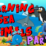 Sea horse, Penguin, Skatefish, Whale, ARIAN, Skip to my lou song, blue, green, grey, black, soft music for children, Nursery Rhyme, kids, colorcountfun, giggles, learn, educational, funny, animals, wild animals, park, icecream, Skip to my Lou song, cow, ROBOMAN, agnes