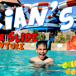 Arian pretend play at water slides fun park | COLORCOUNTFUN Arian and his dad pretend playing at fun park on water slides.