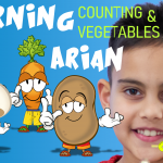 Learning colors and vegetables with colors song and ARIAN
