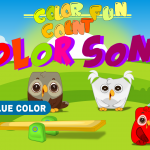 color song, soft music for children, funny music for children, Nursery Rhyme, kids, colorcountfun, giggles, learn, educational, Arian, animated owls