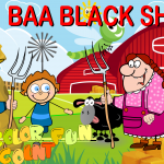 Baa Baa Black Sheep a Popular Nursery Rhymes by COLORCOUNTFUN